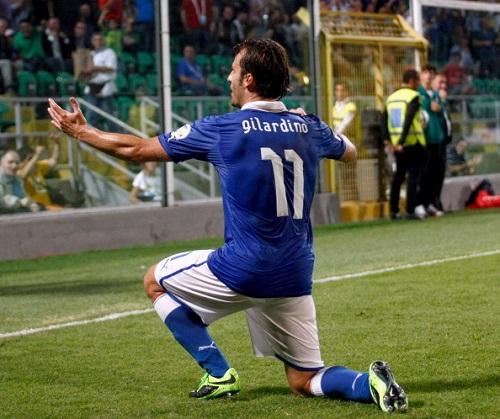 Gilardino Italy v Bulgaria