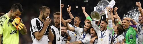 La Juventus sconfitta dal Real Madrid