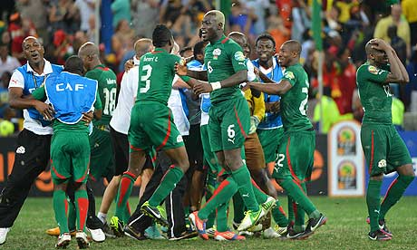 Burkina Faso players reach the Africa Cup of Nations final