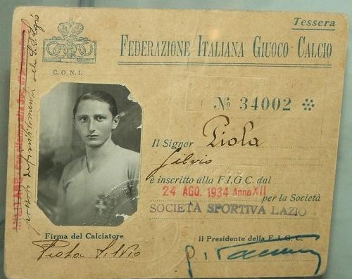 cartellino Piola - Lazio
