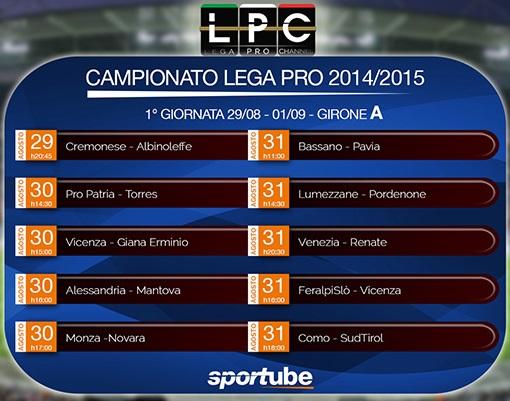 La LegaPro è su sportube.tv