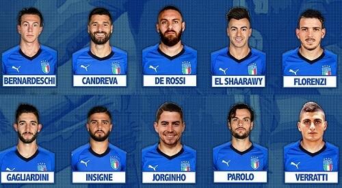 centrocampisti Italia Svezia Qualificazione Mondiali 2018