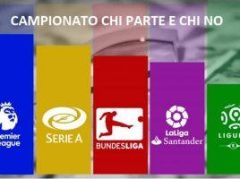 Campionati di calcio: chi riparte?